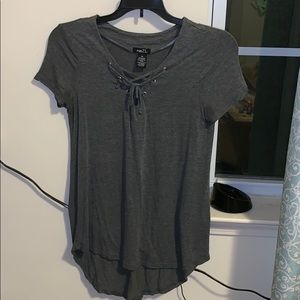 Laced up shirt